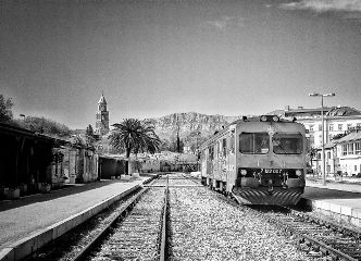 blackandwhite train travel croatia