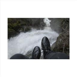 waterfall deep black okayyy water