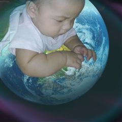 wapearthinhands earth lightmask baby playground