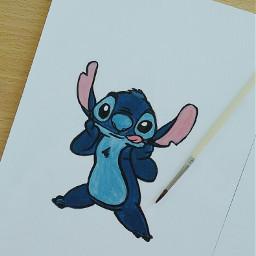 stitch art cute freetoedit