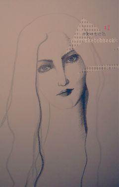sketch drawing portrait emotions woman