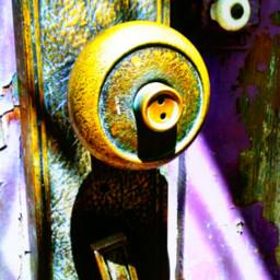 purple doorhandle gypsy rustic