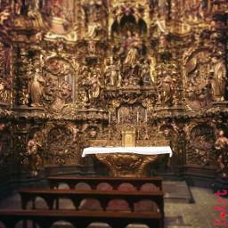 church catalonia spain gold travel