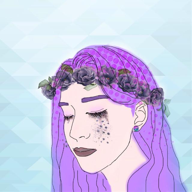 #violet #art #girl #FreeToEdit